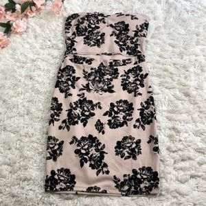 Windsor Staples Floral Dress with Front Cutout